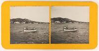 Francia Cannes Pesca Sur Le Bateau E Vista Da Cannes Stereo Analogica Ca 1900