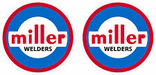 Pair of Vintage Miller Welder Decals 5'' size  60's 70's tig stick mig
