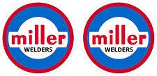 Pair of Vintage Miller Welder Decals 2'' size  60's 70's tig stick mig