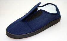 Reha-Schuh Comfort-Foam Schuhe mit Klettverschluss blau Softvelour Verbandschuhe