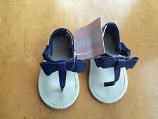 NWT Gymboree Blue Crib Shoes Sandals Baby Girl Infant 3