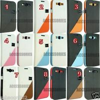 For Samsung Galaxy S3 SIII GT I9300 Smart Leather Flip Wallet Cover Case Pouch