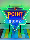 """New Point Beer Triangle Light Neon Sign 24"""" With HD Vivid Printing Technology"""