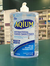 Ego Aqium Antibacterial Hand Sanitiser GEL 1 Litre