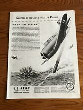 U.S. Army Air Corps Recruiting  WWII Ad, Dive Bombers