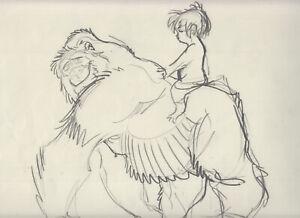 Tarzan Originalzeichnung Gorilla mit Kind Disney Film von Harald Siepermann