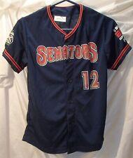 Harrisburg Senators Button Front Blue Minor League Baseball Jersey Youth Size XL