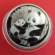 China 2005 Panda 10 Yuan 1oz .999 Plata Fina