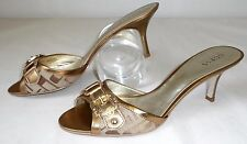 NUOVO Guess by Marciano 40 Sandali in pelle sandali scarpe shoes PUMPS ORO
