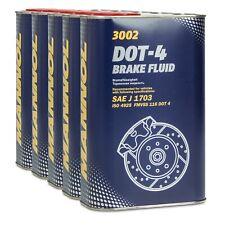 MANNOL Brake Fluid DOT-4 Bremsflüssigkeit SAE J 1703/ ISO 4925, 5x1 Liter