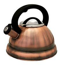 Stainless Steel Tea Kettle 2.8 L Stove Top Whistling Kettle Tea Pot Dark Copper