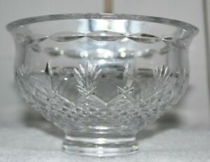 """WATERORD CRYSSTAL 6"""" KILLARNEY FOOTED BOWL-NO BOX w/ETCHED SEAHORSE AND NAME"""