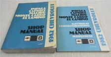 Service Shop Manual Chevrolet Impala Caprice Malibu Monte Carlo El Camino 1982
