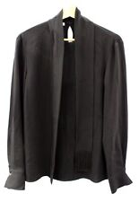 Ladies HUGO BOSS Black Acetate Blend Long Sleeve Fringed Top UK Size 14 - L11