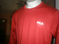 NWT FILA RED PERFORMANCE L/S PULLOVER TOP SZ:S