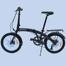 """Aluminium Folding Bike 20 """" Bicycle 8 Speed Shimano Disc Brake Black 2020"""