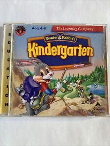 Reader Rabbit's Kindergarten Ages 4-6 (PC Windows 95/3.1 Mac, 1997) CD-ROM