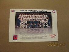 Ahl Rochester Americans Vintage Circa 1990-91 Hockey Team Photo