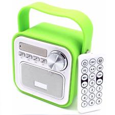 Duschradio für Bad Badezimmer Kinder Küche Radiofunktion Blau Grün