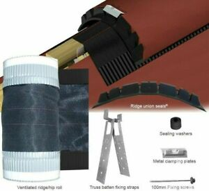 Cromar Pro Ridge Dry Fix Roof Kit Mortar Free Concrete Clay Tile System 6 Metre