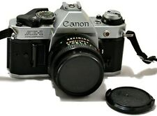 CANON AE-1 PROGRAM SLR 35mm FILM FD MANUAL CAMERA WITH LENS JAPAN MADE