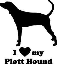I Love My Plott Hound Vinyl Sticker - Dog Puppy Coonhound - Die Cut Decal
