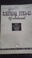 Revista Dental Items de Interes 1937 Journal Ciencia Y Literatura Dec. N º 12