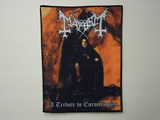 MAYHEM A TRIBUTE TO EURONYMOUS SUBLIMATED BACK PATCH