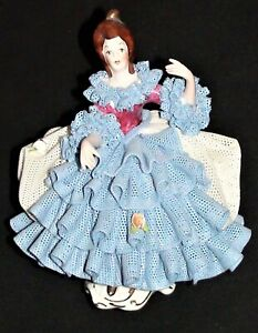 Beautiful Karl Klette Dresden Style Porcelain Lace Figurine