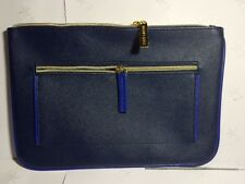 New!!!Estee Lauder Cosmetic Bag Faux Leather in BLUE GWP