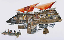 STAR WARS The Khetanna Jabba's Sail Barge Cutaway Drawing Wall Art Picture (A3)