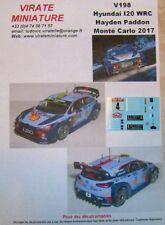 V198 HYUNDAI I20 WRC RALLYE MONTE CARLO 2017 HAYDEN PADDON DECALS VIRATE