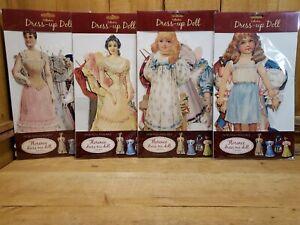 Florence Dress Me Paper Doll Series Made England Mamelok Press Vintage Lot of 4