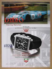 1999 TAG Heuer Monaco watch photo Porsche 917 Steve McQueen vintage print Ad