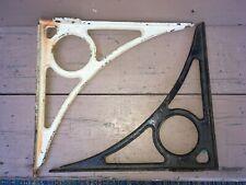 Pair of Large Antique Industrial Cast Iron Sink Shelf Bracket Exterior Corbel