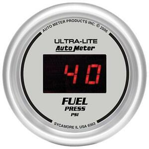 UNIVERSIAL DODGE FORD CHEVY AUTO METER ULTRA-LITE DIGITAL FUEL PRESSURE GAUGE.