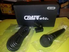 CRATE~CM 100H UNI-DIRECTIONAL DYNAMIC MICROPHONE W/CABLE & HOLDER~NEW OLD STOCK