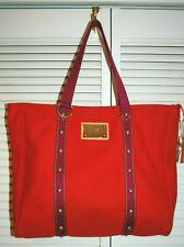 Authentic Louis Vuitton Red Inventeur Antiqua Cabas GM Tote Rare Limited Edition