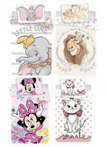 2pcs baby luxury duvet cover bedding set Reversible nursery 100% Cotton Disney