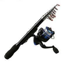Mini Portable Telescopic Fishing Rod Spinning Carbon Fish Hand Fishing Tac H9U2
