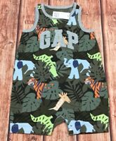 Baby Gap Boys 0-3 Months Shorts Romper Outfit. Jungle 1-Piece Romper. Nwt
