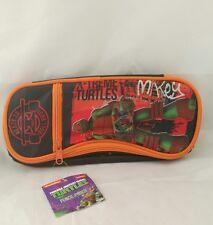 TMNT Teenage Mutant Ninja Turtles Mikey Orange Pencil Pouch NWT