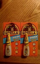 2  Gorilla Super Glue Nozzle and Brush On  2 Way Application 10g Clear Glue