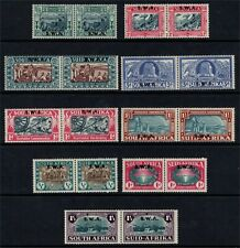 South West Africa GV1 1938-39 3 Sets Lightly Mounted Mint