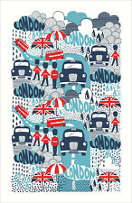 Geschirrtuch, Rainy Days London von Ulster Weavers