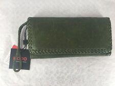 New Hobo International Top Grain Italian Leather Clutch in Moss Green MSRP $118