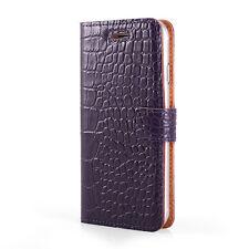 SURAZO® Premium Echtes Ledertasche Krokodil Leder TPU Hülle Tasche Wallet Cover