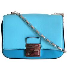 NEW Michael Kors COLLECTION Limited Edition Blue Leather Cross Body Handbag $590
