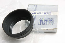 Qualide 58mm Screw-in Lens Hood Shade - Collapsible Rubber - USED H191
