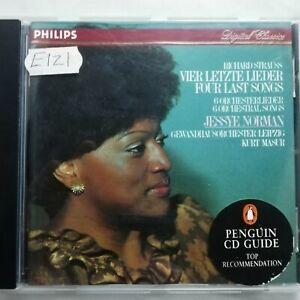Strauss: Four Last Songs etc. / Jessye Norman / Masur / Philips CD 411 052-2